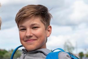Andrej Kuzmin, 12 år, Ryssland.– Jag åker till Ryssland för att hälsa på min mamma.