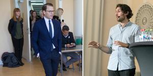 Prins Daniel och Leo Razzak var två av de fem kända personer som besökte Täljegymnasiet under torsdagsförmiddagen.