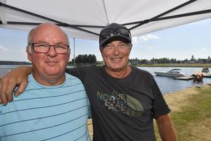 Anders Dickfors och Mats Enkler, laddade för racerfesten på Saxviken.
