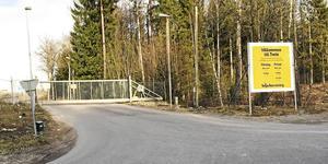 Återvinningsanläggningen i Tveta.