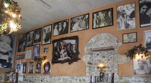 På Melina Café i Athen påminns man om skådespelerskan och politikern Melina Mercouri. Foto: Lennart Götesson.