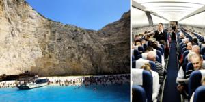 Direktflyg från Sverige tillåts till Grekland från den 22 juli. FOTO: Petros Karadjias och Lars Pehrson/TT