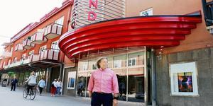Niklas Bergström, näringslivsutvecklare, vid biografen Grand i Sandviken.