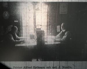 Faktor Alfred Eriksson och redaktör Julius Nordin.