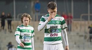 Filip Ottosson och Boris Ljevar deppar. Foto: Anders Forngren / BILDBYRÅN
