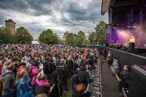 Konsertområdet vid Gustavsvik tar in 6000 besökare och det var slutsålt till Lars Winnerbäck.