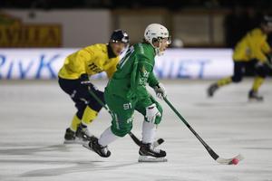 Ilja Grachev i annandagsderbyt mot Tellus förra säsongen. Foto: Christine Olsson/TT