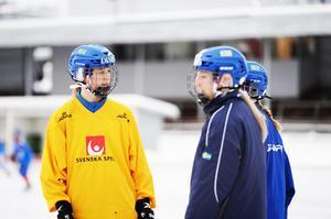 Malin Persson, längst till vänster.