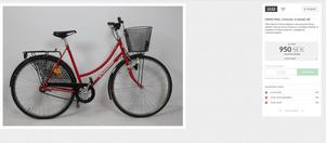 Flera cyklar fanns bland de gods som polisen sålde. Foto: Effecta