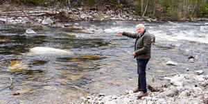 Helge Jonsson är en av de starka drivkrafterna bakom projektet att restaurera en sträcka av Ljusnan för fiskens skull.