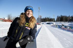 Mona Brorsson har hittills haft sin bästa säsong nu blickar hon framåt mot hemma-VM. Foto: Jessica Gow/TT.