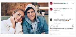 Familjen Nilsson Lindelöf bor egentligen i Manchester eftersom Victor spelar mittback för Manchester United. Maja är en influencer med nästan 200 000 följare på Instagram. Foto: Instagram