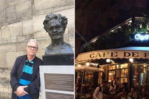 Christer Jonasson åkte till Paris i maj med frun Gunilla och tio andra Sundsvallsbor för att besöka de platser August Strindberg bott och verkat på i Paris.