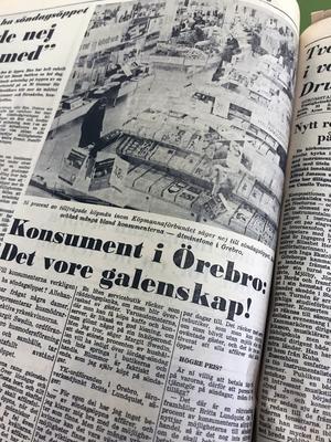 Den 29 oktober 1969 handlar det i NA om söndagsöppna affärer eller ej. I en stor undersökning gjord av Sveriges köpmannaförbunds tidskrift Köpmännen, säger hela 95 procent av läsarna nej till söndagsöppet, med motiveringen