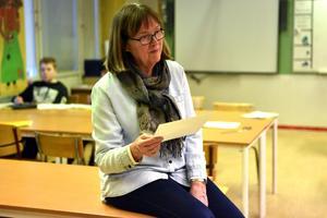 Ulla Schütt avslutar dagens lektion.