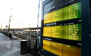 Inställda tåg blir dyrt för den som måste fram. Det kostar runt 5500 kronor att ta taxi från Sundsvall till Arlanda.