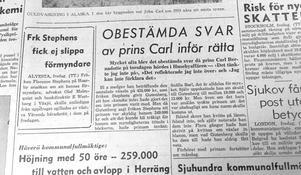 Norrtelje tidning 1 november 1957.