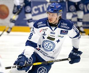 Leksands Filip Johansson var inte inne på något baklängesmål i Sveriges fyra matcher och blev bäst i plus/minus-ligan. Foto: Ulf Palm/TT.