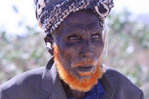 Den här etiopiske mannen mötte Gunnar Lundström under sin resa i sin morbrors spår. FOTO: GUNNAR LUNDSTRÖM