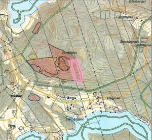 Naturvårdsavtalet gäller för skogen runt Rödklitten. Illustration: Skogsstyrelsen