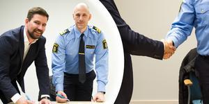 Den samverkan som finns mellan polis och Ljusdals kommun är i nuläget bra enligt Karl von Krusenstjerna, men att de ska fortsätta stärka den lokala närvaron med hjälp av medborgarlöftet.