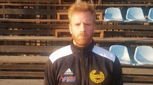 Hebys lagkapten Jonas Ahlin var besviken efter derbyförlusten. Foto: Arkiv