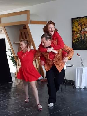 Elin Rhodiner, Maja Hellsten och Mattias Lundmark.Foto: Veronika Orrell