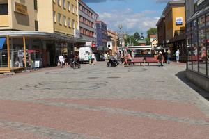 Korsningen mellan Carlavägen och Storgatan i centrala Ludvika kameraövervakades under valrörelsen.