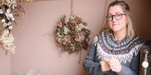 Linda Hansson, florist och kranskreatör.