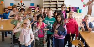 1A på Källskolan är grymma på matematik och ligger i toppskiktet i Sverige i tävlingen Mattematchen.