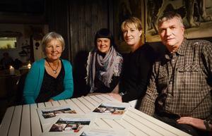 Anneli Wiklund, Hanna Bruce, Gölin Jonsing och Lars Mobacke är några av företagarna i nya projektet Buss på Hälsingland.