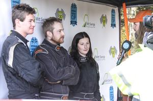 Tre vinnare  på Kåtmyrabanan i Ljusdal – Markus Karlsson (juniorklassen), Micke Sundberg (senior) och Maja Gradin (dam och veteran).