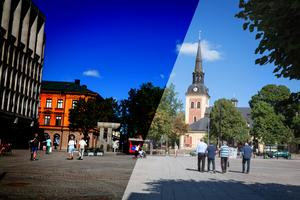 Skribenten skriver att det finns flera olika sätt att beskriva Södertälje – både den mörka och den ljusa bilden är lika sanna. Foto: Karolina Önnebro