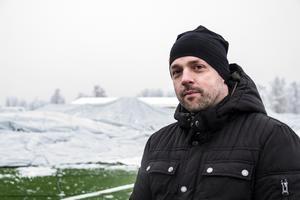 Simon Clemin, ordförande i Fotbollshallen i Ljusdal AB.