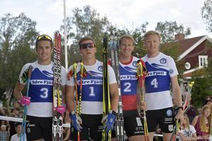 Idresprinten Johannes Engdahl, Falun-Borlänge trea, Anton Hedlund, Falun-Borlänge, etta, Gustav Nordström, Borås, tvåa och Oskar Svensson, Falun-Borlänge fyra.