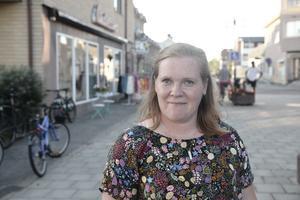 Kristina Persson från Svegs Företagar- Och Utvecklingsförening är nöjd med Handelns dag.