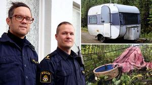 Ångepoliserna Daniel Dübbel och Tommy Nyström beskriver historien med de vanvårdade hundarna som det värsta djurärende de har upplevt.