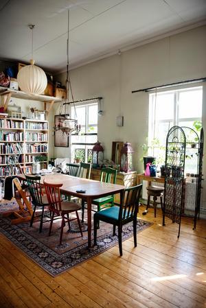 Huset i Docksta användes tidigare som missionshus och användes som loppis innan Karin och Erik köpte det.