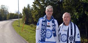En av de sista förberedelserna som Bernt Lindgren och Roger Magnusson gjorde inför den långa promenaden var att köpa skavsårsplåster.
