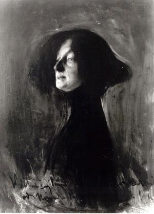 Dagny Juel. Oljemålning av den ukrainsk-polske expressionisten Konrad Krzyżanowski  från 1901.