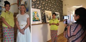 Utställningen är ett samarbete mellan Tatum Maya, en tvärkulturell konstnär från Indonesien och Jessica Winbladh på Jänvägshotellet. Foto: Privat
