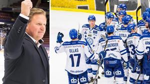 LIF-tränaren Leif Carlsson var mycket nöjd med Marcel Müllers och Daniel Piettas debut i Leksand, i 4–1-segern mot Modo. Foto: Daniel Eriksson/Bildbyrån