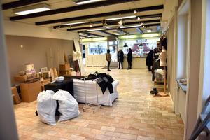 Det ekade tomt inne i butiken de sista dagarna som systrarna hade öppet. Utförsäljningen hade då pågått sedan i slutet av november.