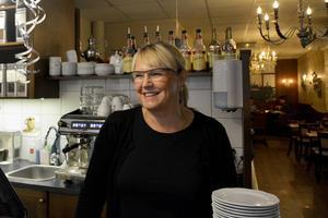 Marie Strömberg, delägare i Café Charm.