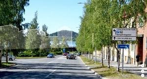Hela det planerade kvarteret mot Storsjön i Gränsgatans förlängning flyttas sex meter så att utsikten säkras.