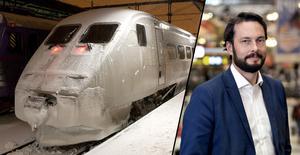 Fotomontage: SJ/TT. Fortsatt inställda tåg – bussar ska mildra krisen: