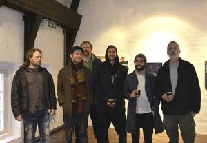 Några av utställarna: Herman Englund, Fredrik Wimmercrantz, Olof Ahlström, Erik Lindström, Talel Dayekh och Björn Gimstedt.