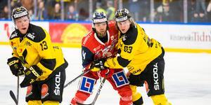 Anthon Eriksson tryckte sig fram och fick in 2–1-pucken som gav VIK tre nödvändiga poäng.