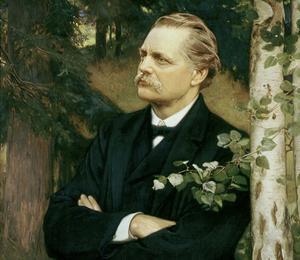 Artur Hazelius . Målning av Julius Kronberg från 1910.