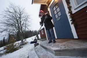 De första snöflingorna har börjat att falla i Storgranberg. Foto: Jan Johansson/VK